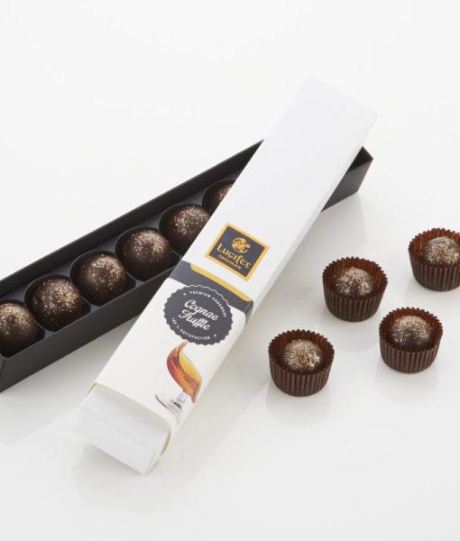 Čokoladni trufli z okusom konjaka - Cognac Truffle, 8 čokoladnih pralin