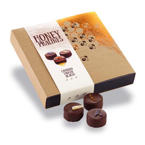 Bonboniera - Čokoladne praline z medom, cvetnim prahom, ingverjem in sivko