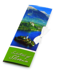 Slovenska mlečna čokolada Čokoladno pismo Sweetness of Slovenia - Blejski otok