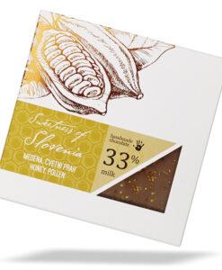 Slovenska mlečna čokolada z medom in cvetnim prahom - Sweetness of Slovenia