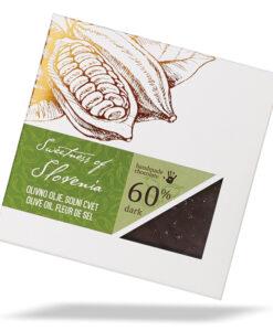 Slovenska temna čokolada s solnim cvetom in olivnim oljem - Sweetness of Slovenia, Lucifer čokolada