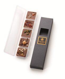 Posute čokoladne ploščice iz mlečne čokolade - Broške Linea