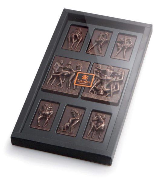 Temna čokolada z erotičnimi motivi - KAMASUTRA velika