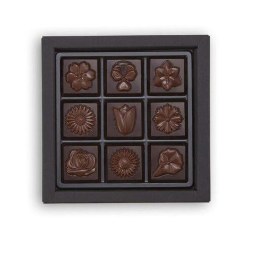 Cvetlične čokoladne ploščice iz mlečne čokolade z esenco vijolice, 9 ploščic - Lucifer čokolada
