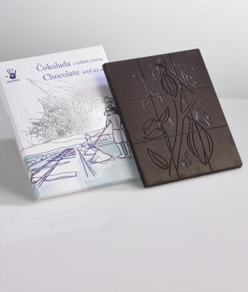Čokoladna darila - Temna čokolada s solnim cvetom
