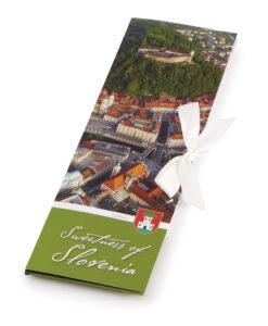 Slovenska mlečna čokolada Čokoladno pismo Sweetness of Slovenia - Ljubljana iz zraka
