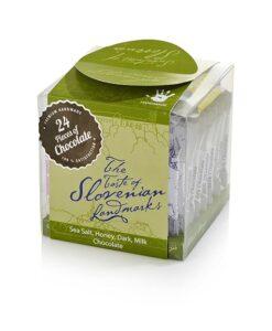 Mini čokoladice s podobami Slovenije v škatlici - SLO BOX, 24 čokoladic