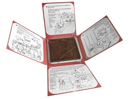 Mlečna čokolada - Čokoladna pobarvanka RDEČA KAPICA - notranjost