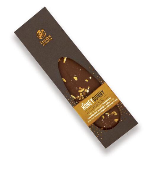 Mlečna čokolada z medom, mandlji in soljo HONEY BUNNY