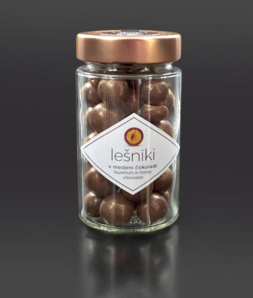 Čokoladne kroglice - Obliti lešniki z medeno čokolado