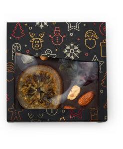 Posuta temna čokolada s suhim sadjem in oreščki - NOVO LETO