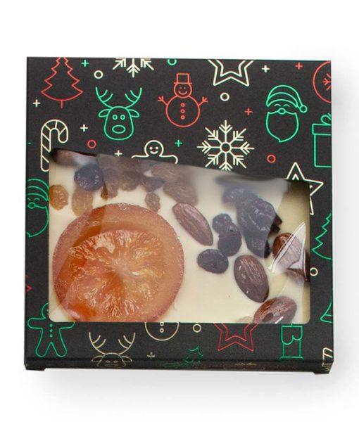 Posuta bela čokolada s suhim sadjem in oreščki - NOVO LETO, 110 g