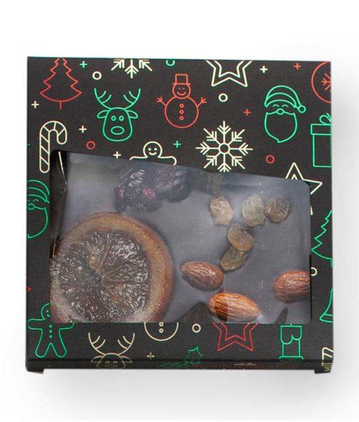 Posuta temna čokolada s suhim sadjem in oreščki - NOVO LETO, 110 g