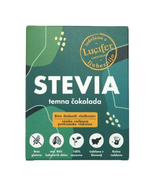 Lucifit STEVIA temna čokolada, 72g