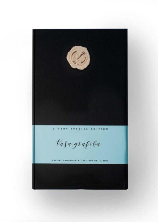 2x vražje, paket naj pralin in vina: zaprta škatla s personalizacijo